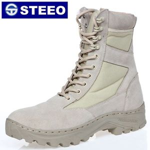 Sand color high neck nylon oxford waterproof police military boots