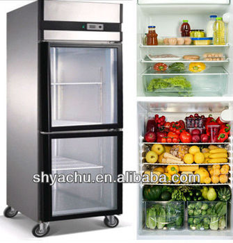 Ks Best-Selling Luxury Europe-Type Series Commercial Stainless Steel Display Fridge