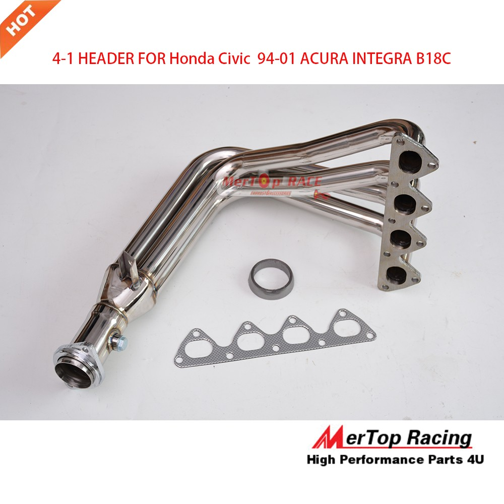 Stainless Steel Exhaust Header Manifold For 94-01 Acura Integra GSR 1.8L DOHC