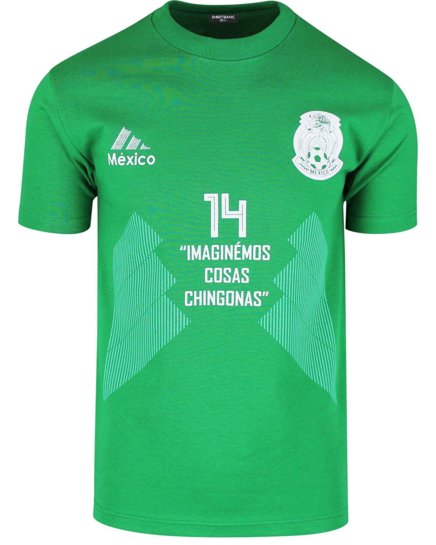 fe6416ca5 Get Quotations · Imaginemos Cosas Chingonas Mexico Soccer Jersey Shirt  Futbol Mexicano Chicharito