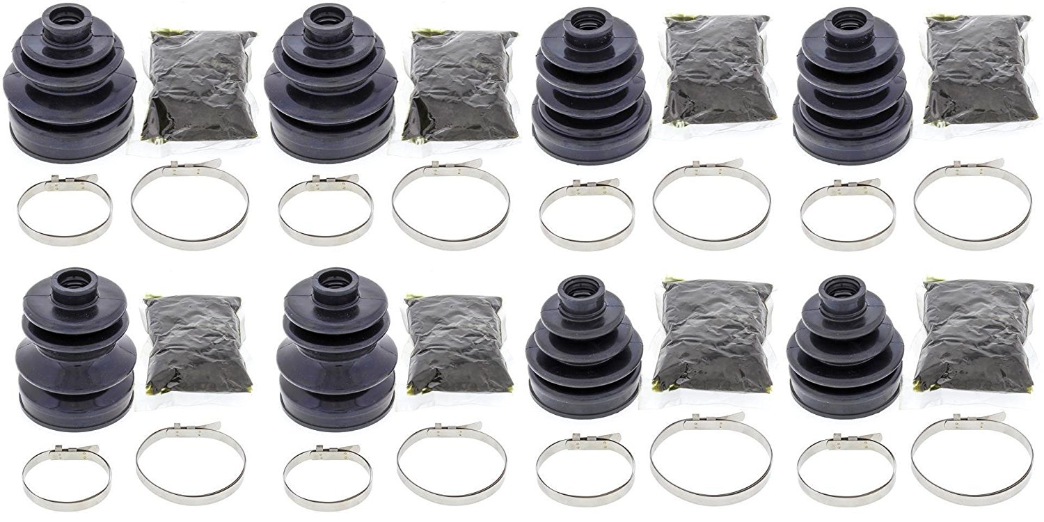 Complete Front & Rear Inner & Outer CV Boot Repair Kit for Yamaha 660 RHINO 2006-2007 All Balls