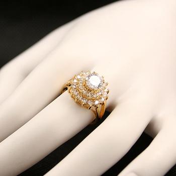Fashion Br Jewelery Wedding Love Artificial Saudi Arabia Gold Ring Price