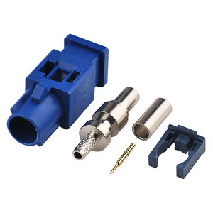 Blue Fakra code C Plug Male Connector for RG316 RG174 Cable