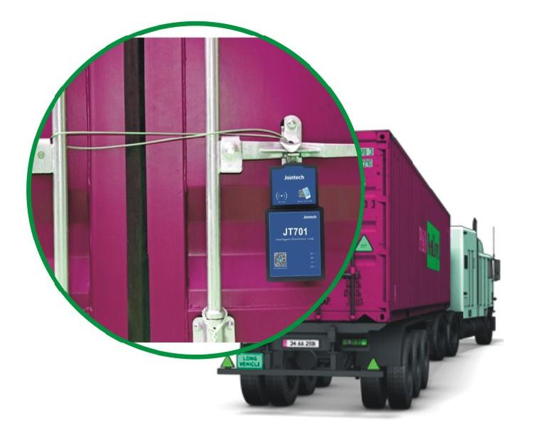 Lock The Container For Security Control By Electronic