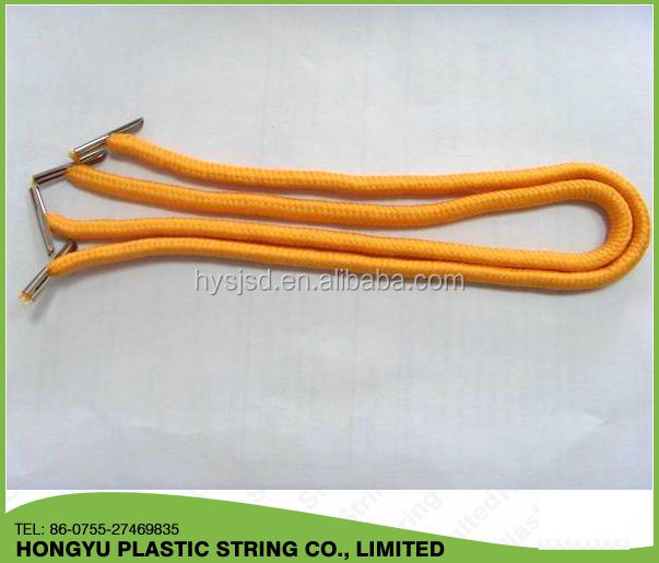 solid polyester handle rope with metal ends on each end