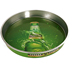 Wholesale Tin Serving Tray Round Anti-slip Bar Beer Decorative Tin Container Custom Cheap Metal Tray