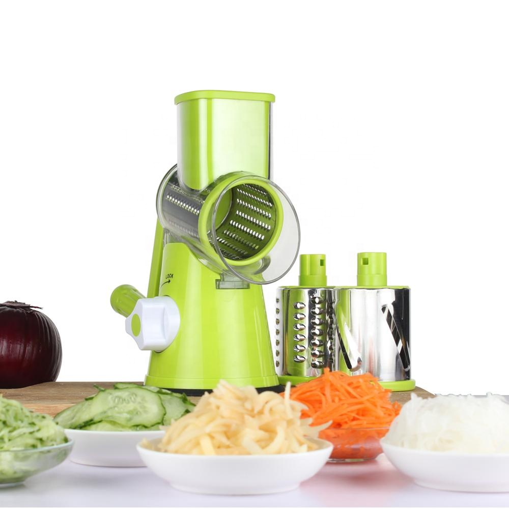 Green multi manual kitchen round vegetable <strong>cutter</strong> slicer cheese grater clever <strong>spiral</strong> <strong>cutter</strong> for home use