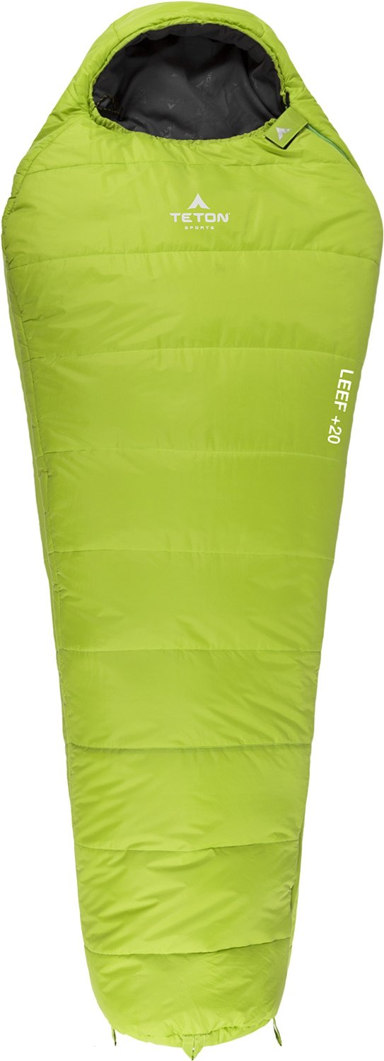 Teton Sports LEEF Ultralight Mummy Sleeping Bag; Lightweight Mummy Bag Perfect for Backpacking, Hiking, and Camping; 3-4 Season Sleeping Bag; Compression Sack Included