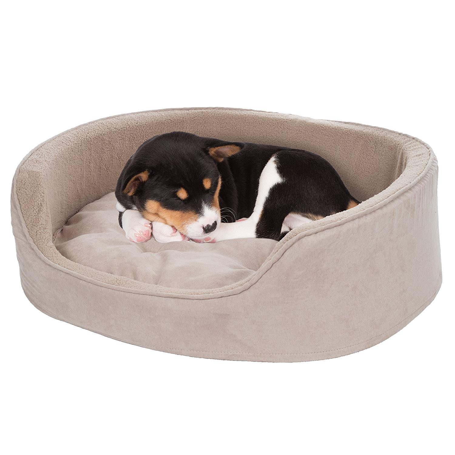 PETMAKER Large Cuddle Round Microsuede Pet Bed