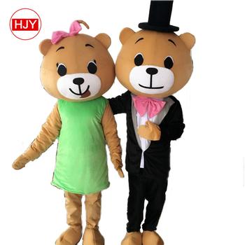 5bf7a9705 Custom-made Mascot Costume For Adult Couple Bears - Buy Bear's ...