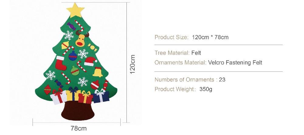 Kids Diy Felt Christmas Tree With Ornaments Children Christmas ...