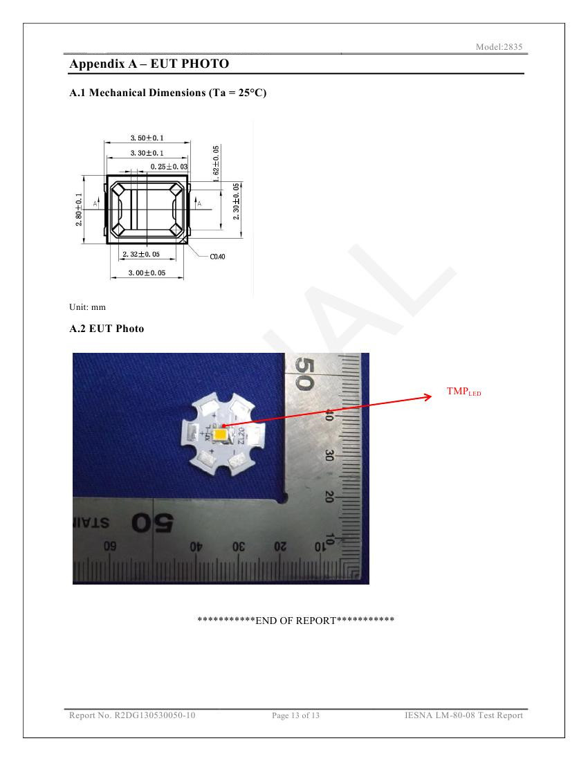 2835 Smd Led Datasheet Ce High Lumen 0.2w Led Chip