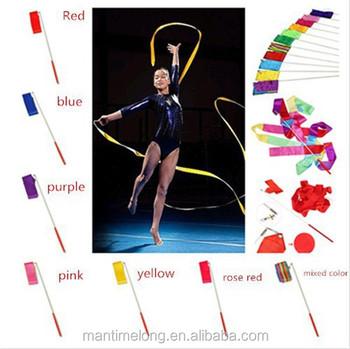 a2c160a15 Fita dança Ginásio Crossfit Ginástica Rítmica Arte Ginástica Ballet  Streamer Rodopio Rod