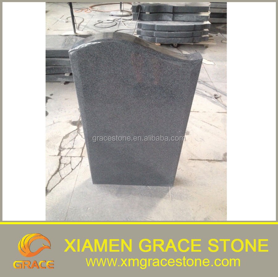 G654 grey granite tombstone headstone