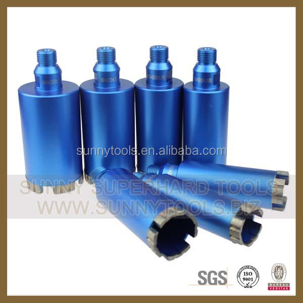 Sintered iron bronze brazed sharp diamond core drill