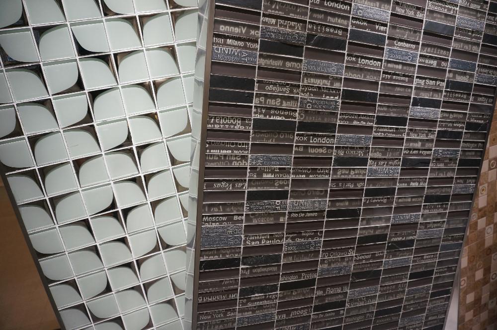 Nuovo design con città nome di vetro con pietra piastrella a