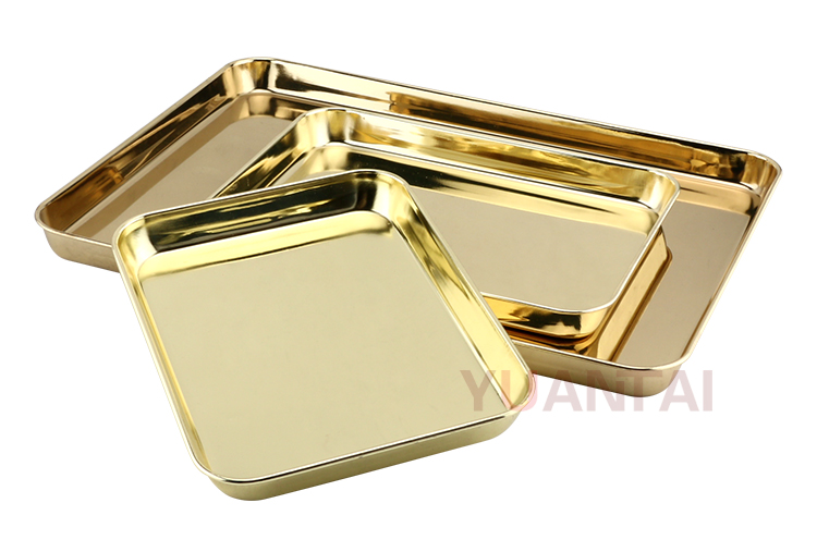 2018 newest style trays stainless steel deep rectangle serving tray stainless steel rolling tray for restaurant