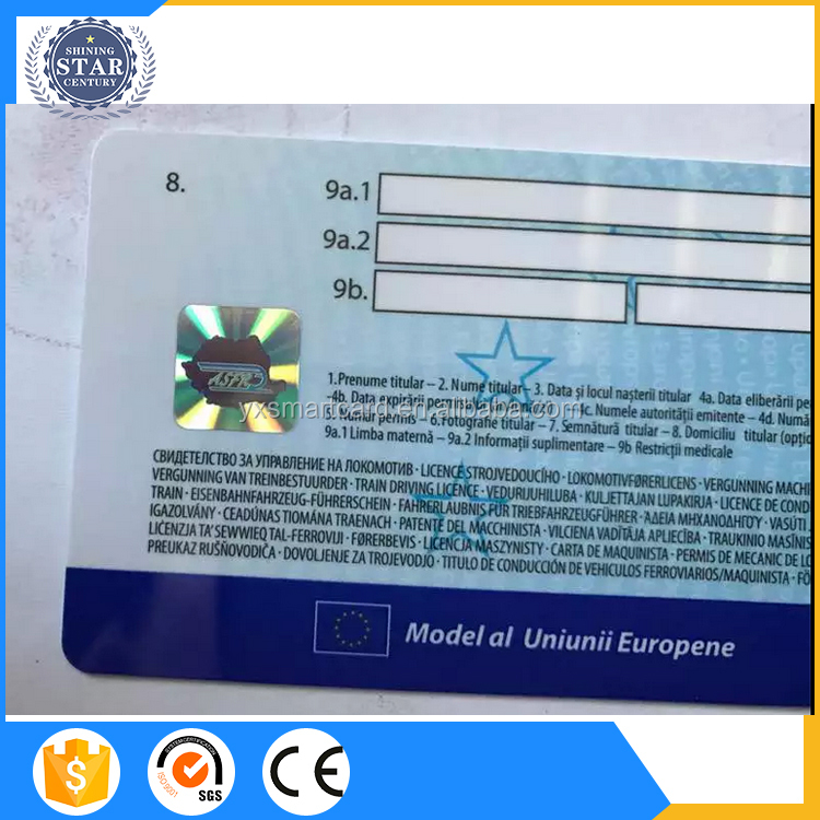 High security Voter ID card with hologram sticker