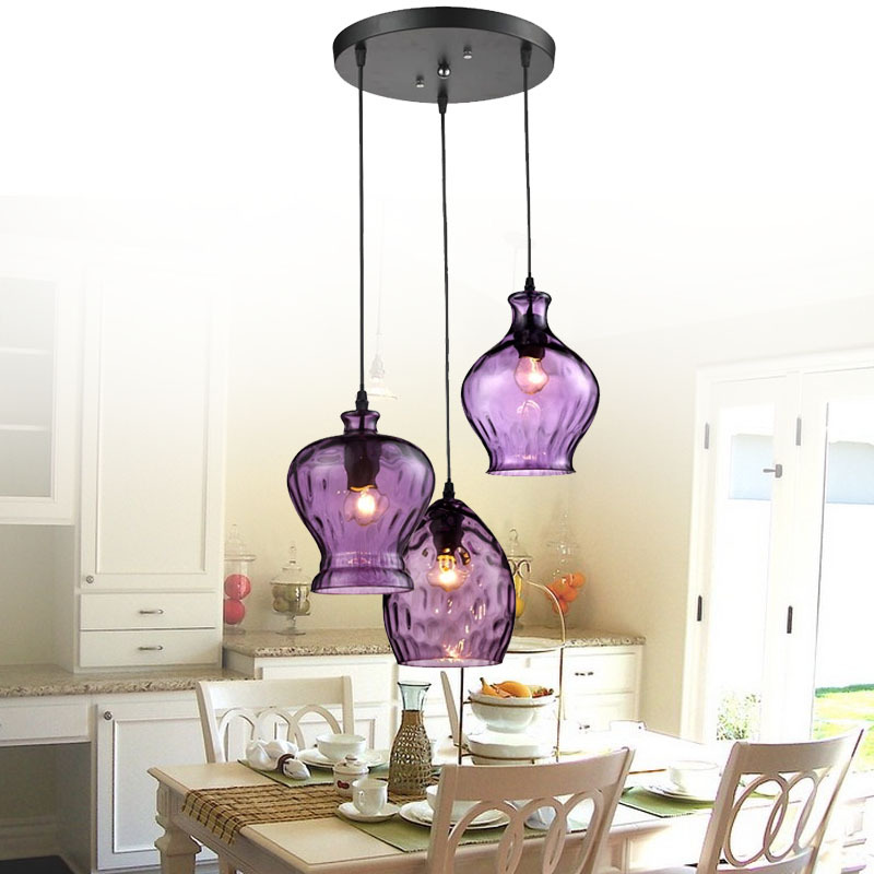 Get Quotations Modern Stainde Gl Pendant Light Fixtures Purple Wine Shade Lamp Bar Restaurant Living Room Decoration Colored