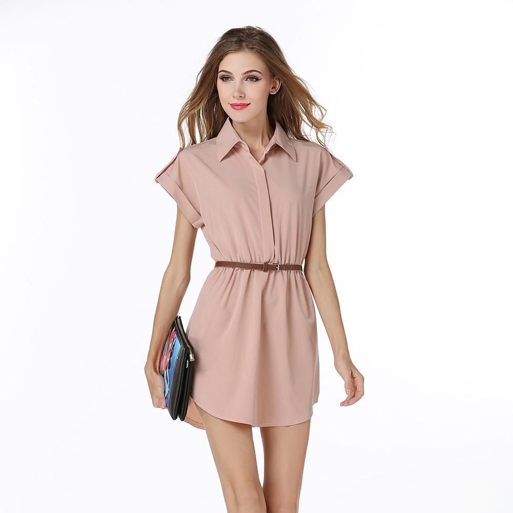 c4a34a6a84753 JS 20 fábrica profesional señora moda Corea vestido ocasional con la correa  ...