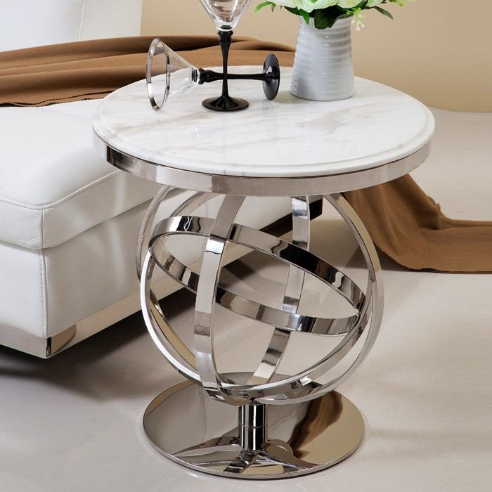 polissage en acier inoxydable marbre table basse moderne meubles de salon table d 39 appoint table. Black Bedroom Furniture Sets. Home Design Ideas