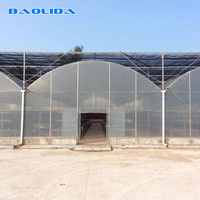 Climate control air conditioned agricultural plastic film greenhouse