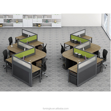 modern design cubicle 4 person office workstation with height adjustable high partition