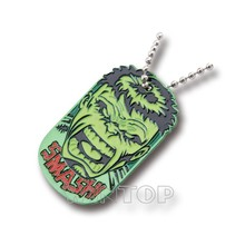 Custom promotional mixed color pattern dogtag for children