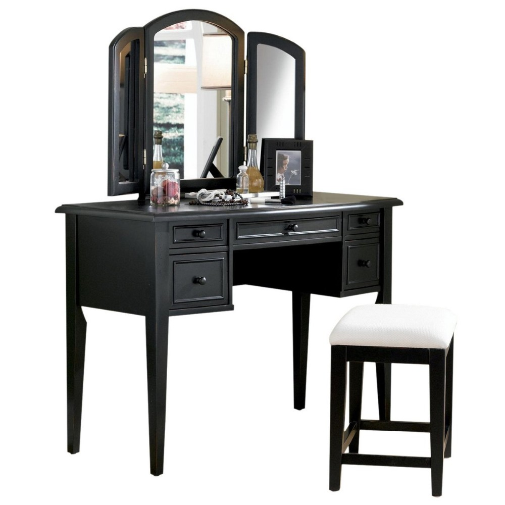 Marvelous Poundex Bobkona Edna Vanity Set With Stool Black Supplierfactoryseller Buy Vanity Set With Stool Poundex Bobkona Edna Vanity Set With Pabps2019 Chair Design Images Pabps2019Com