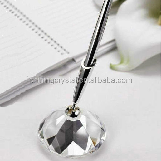 Novelty crystal Diamond Memo Clips Glass paperweight