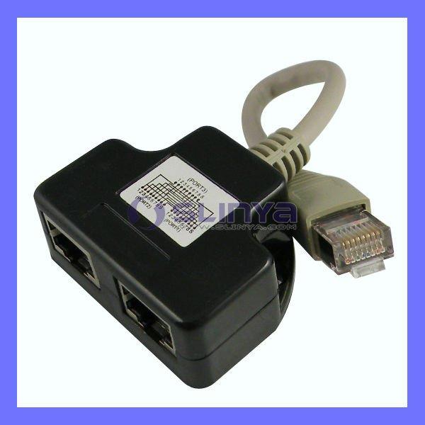 RJ45 CAT5 6 Ethernet cable LAN Port 1 to 2 Socket Splitter Connector Adapter P1U