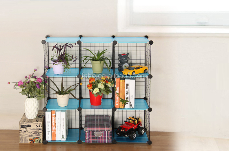Versatile Grid Wire Modular Shelving Wire Cube Storage Fh-awl01221 ...