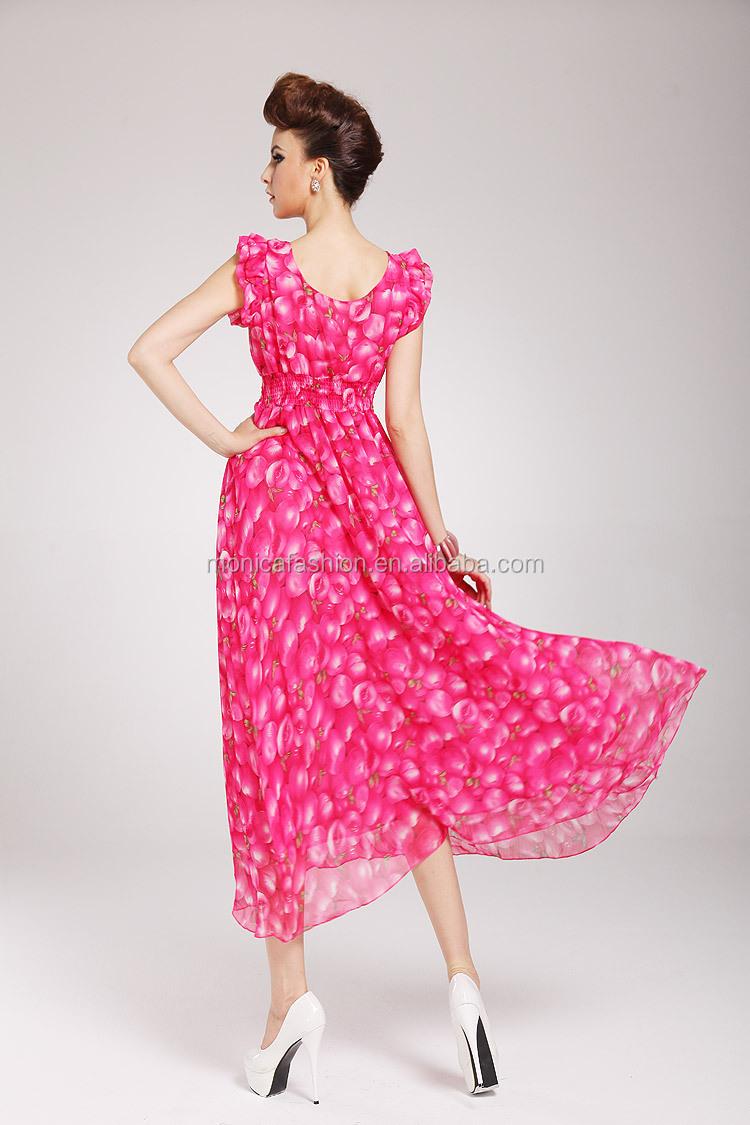 Wholesale Plunging Neckline Long Dress Women Summer Casual Designs ...