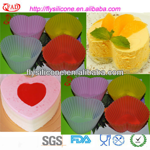 Heart Shape Silicone Colorful Mini Pancake Forms Marker Food Grade With FDA&LFGB Approval