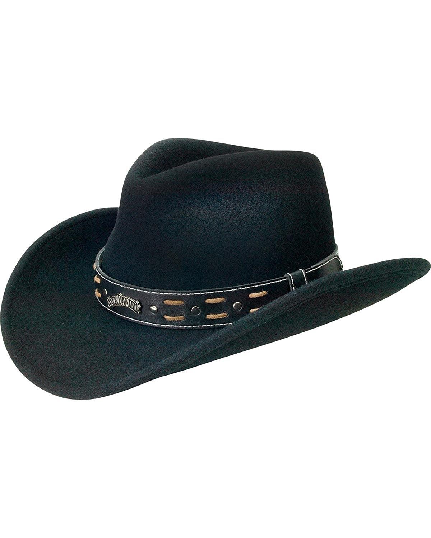d4c37d20485 Get Quotations · Jack Daniels Men s Daniel s Crushable Wool Water-Resistant  Hat Black Medium