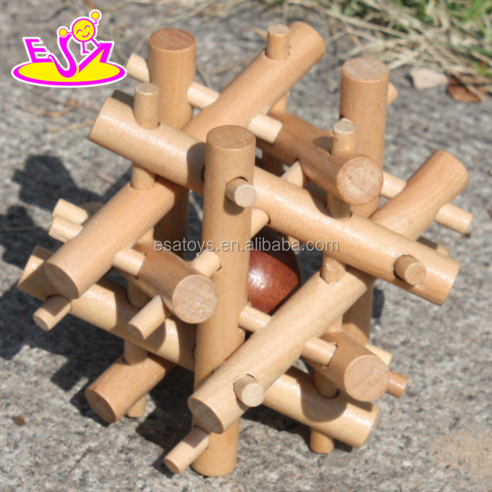 10 top educational game wooden brain teaser puzzles for kids W11C020