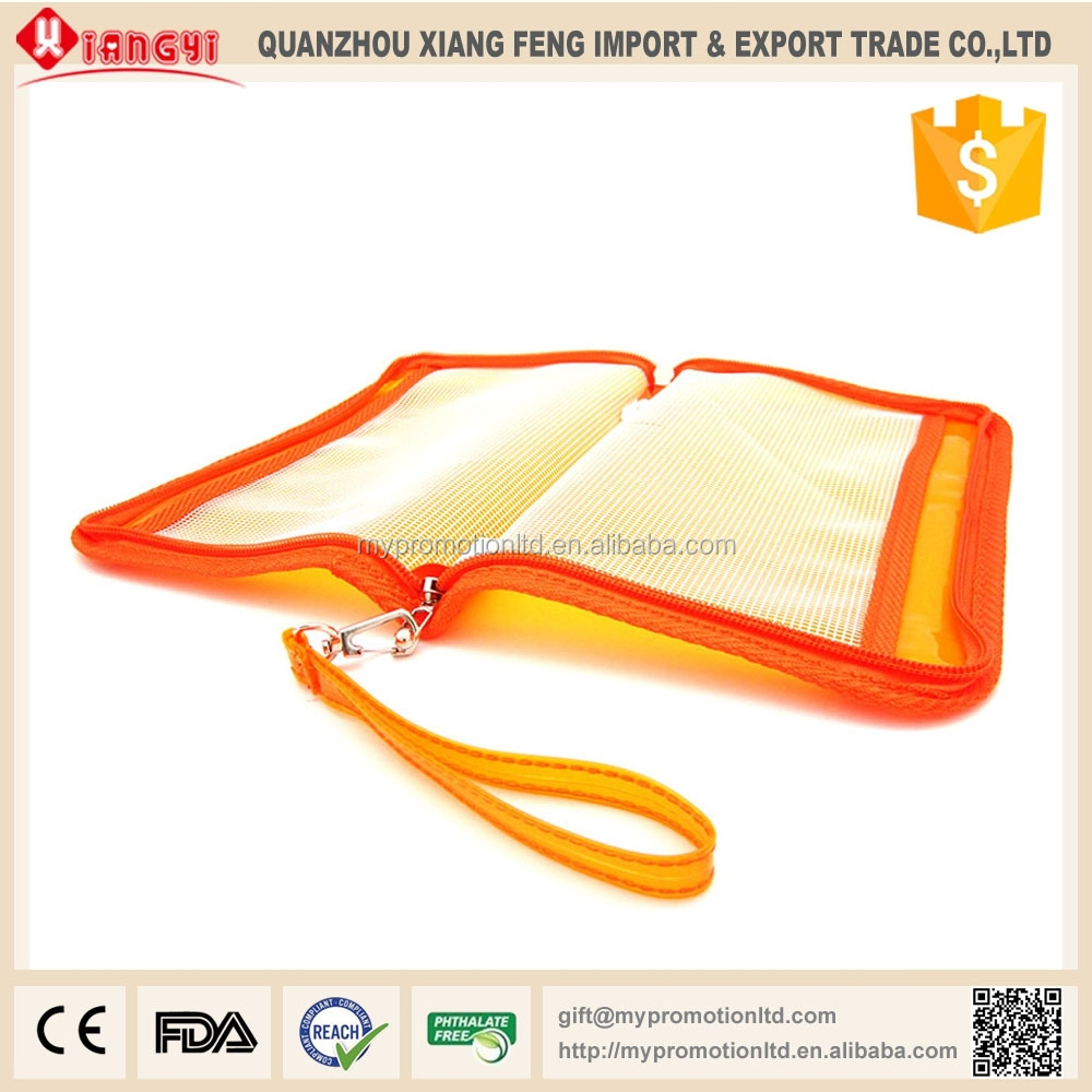 export clear pvc clip file folder for stationery
