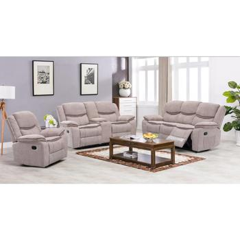 Frank Furniture Best Manufacturer Modern Fashion Living Room Indoor Soft  Beige Glider Sofa Chair Luxury 3 2 1 Recliner Sofa Set - Buy Cheap Sofa ...