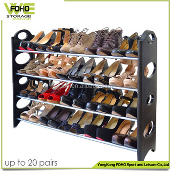 4 Tire Large Shoe Racks 50 Pairs Metal Rack Storage Cabinets