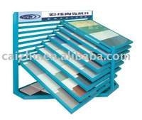 Metal wall OR floor Tile display rack