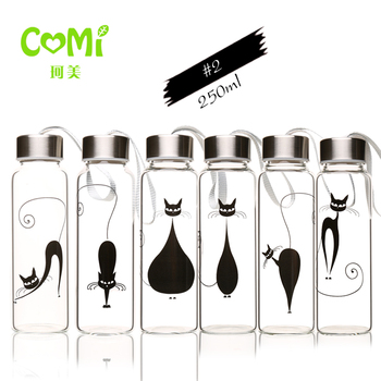 2020 Best selling 250ml glass water bottle for fridge with wholesales price