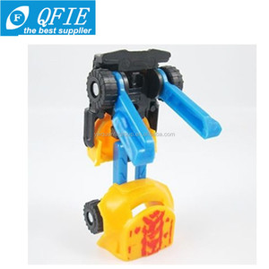 Wholesale 5cm small plastic car transform robot toy for Russia market
