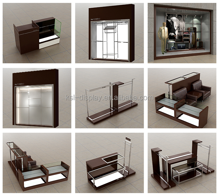 Modern Shop Counter Design Wood Nesting Tables Display For