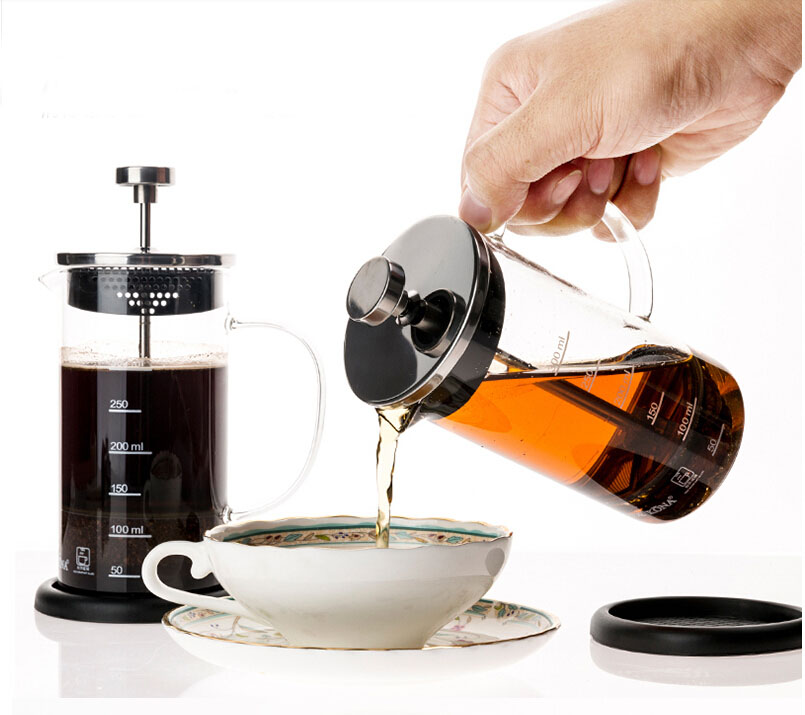 1 Liter Glass French Press Coffee Maker, 34-Ounce, BONUS Stainless Steel Screen
