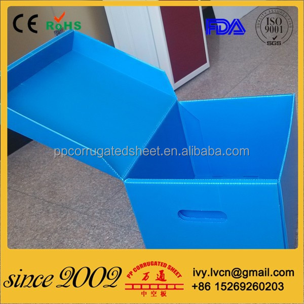 Folding corrugated plastic box,Corrugate plastic container,Coroplast box