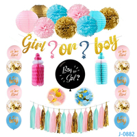 2019 Gender Reveal New idea Baby Showers Party Supplies Decoration Kit gender reveal party supplies