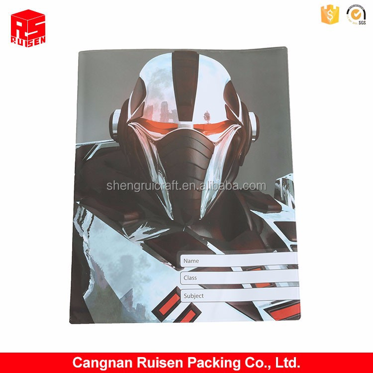 Factory supply custom design printing plastic PVC book cover