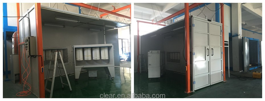 Metal Parts Powder Paint Booth China Factory Design Powder