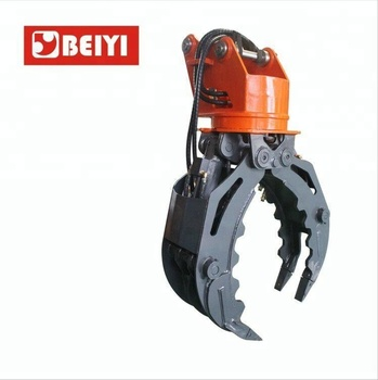 Excavator used Forest hydraulic rotating log grapple