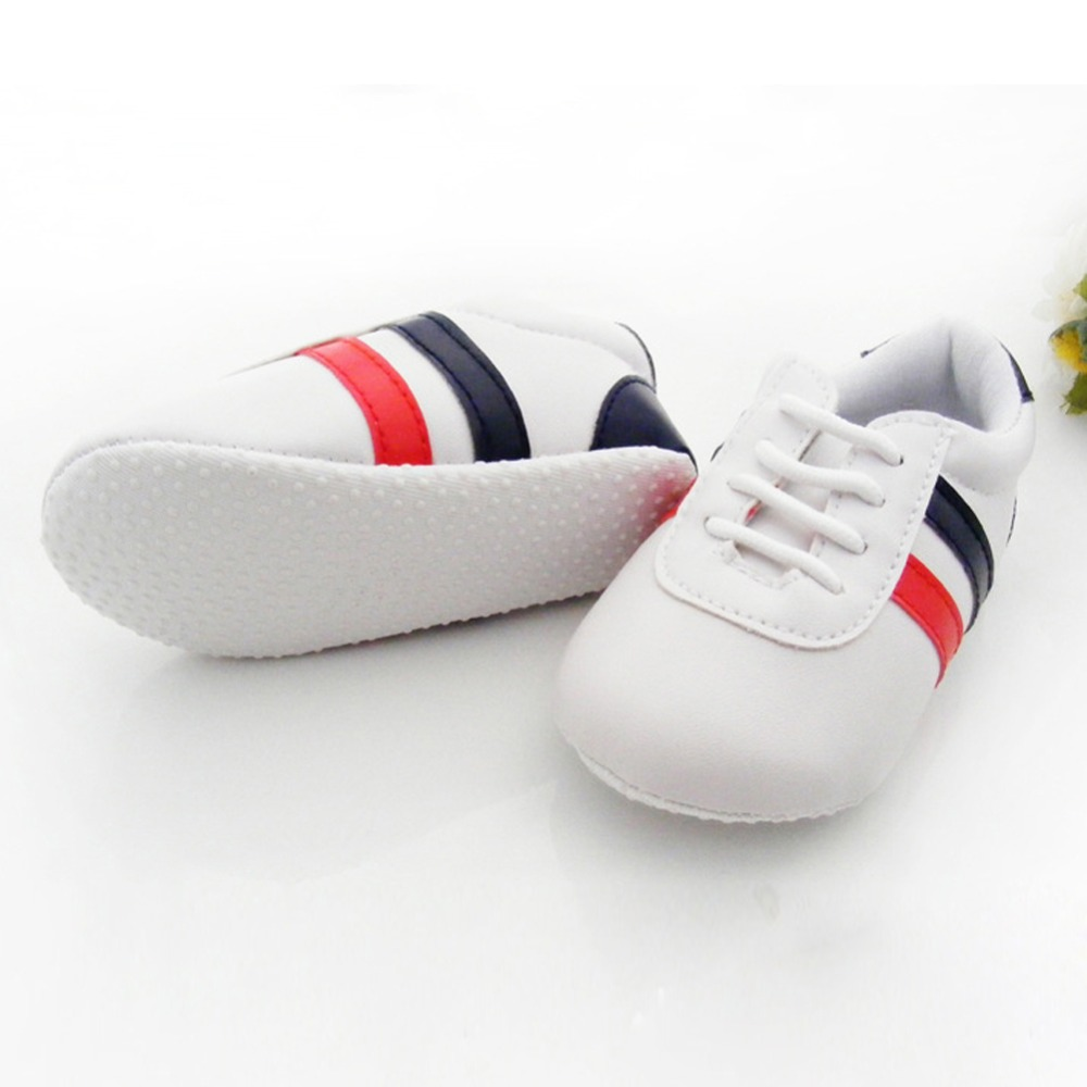 0-12 M Baby Boys Girls Soft Sole Crib Shoes PU Leather Anti-slip Shoes Toddler Sneakers